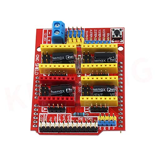 T&F CNC Shield V3 Development Board for A4988 Stepper Motor Driver for 3D Printer and Arduino icluding eBook
