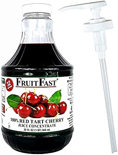 100% Red Tart Cherry Juice Concentrate by Fruitfast | 1 Quart - 32 Day Supply Non-GMO Gluten-Free Helps suppport Healthy Joint Function* | Added Easy Juice Pump