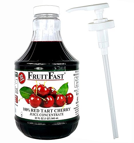 100% Red Tart Cherry Juice Concentrate by Fruitfast | 1...