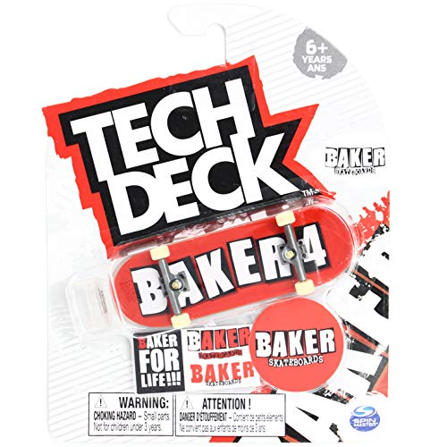 Tech-Deck Baker Skateboards Baker 4 OG Red Logo Ultra Rare 2020 Complete 96mm Fingerboard