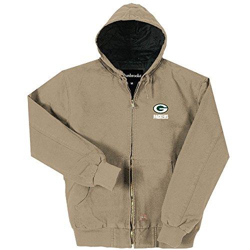 Dunbrooke Apparel NFL New York Jets Cumberland Canvas Gesteppte Kapuzenjacke, Erwachsene, Herren, Team, Large