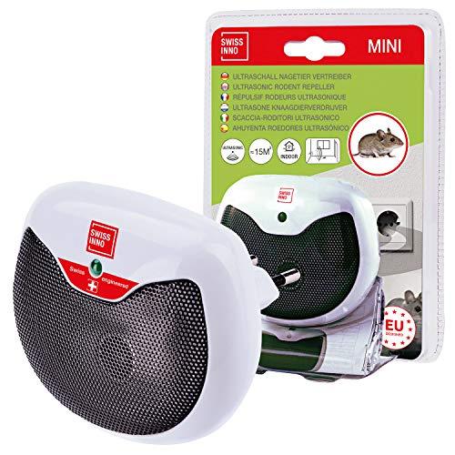 Mini Ahuyenta Roedores Ultrasónico 15 m2: repele ratones, ratas y otros roedores con ultrasonidos, uso en interiores. 1x