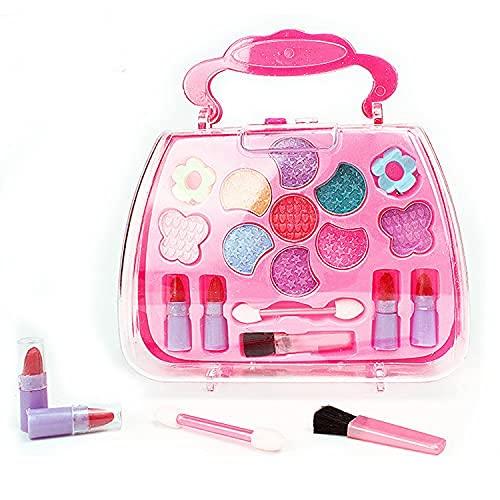 SQUICKLE Kids Makeup Kit Set, Fashion Makeup Play Kit, Pretend Makeup Toys Cosmetic Toys, Fashion Beauty Play Set, Pink Makeup Set