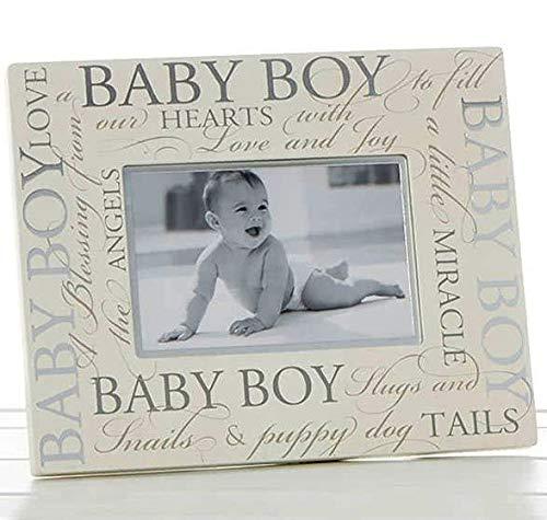 Baby Boy Bilderrahmen Script Erinnerungen...
