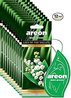 Areon MON I Modern Design Hanging Car Air Freshener I Lily The Valley Scent (Pack of 12)