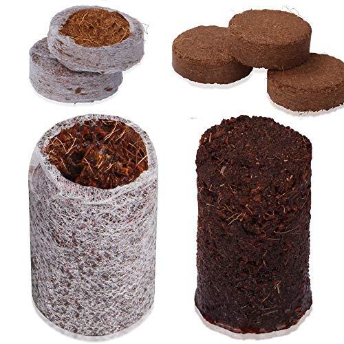 your GEAR 50 Coco Disc Kokos Quelltabletten mit oder ohne Hülle - Quelltopf Anzucht ohne Pikieren Kokoserde Tabletten Blumenerde ungedüngt torffrei
