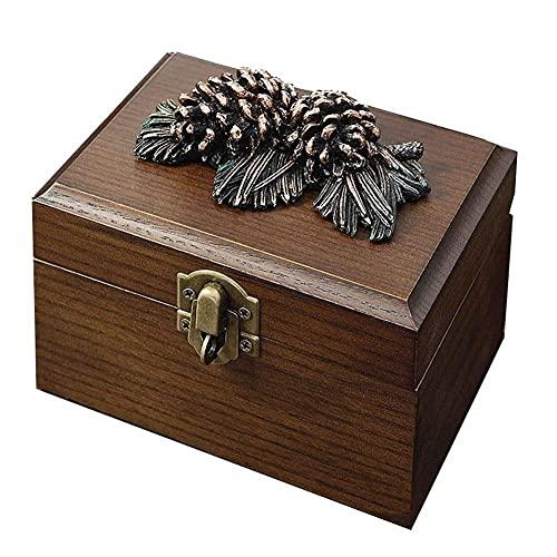 JIANGCJ Bella Caja de joyería Mini Maleta de Madera Creativa Simple Mini Mini Multiumply High Capacidad para Collar Anillo Boda Compromiso Regalo Tinket Box