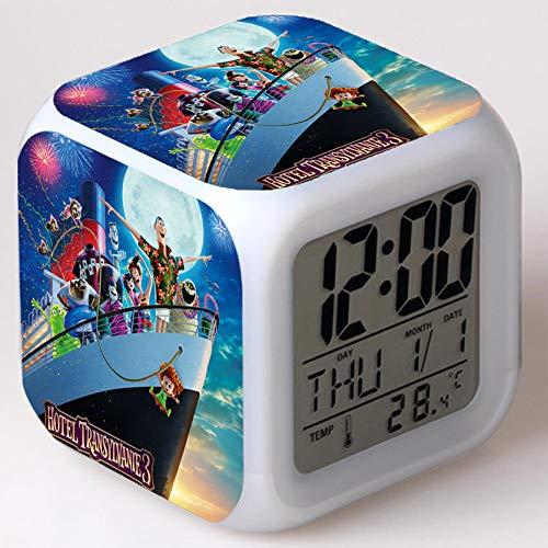 Wizard Hostel Alarm Clocks Kids LED Clock Cartoon Night Light Flash 7 Color Changing Digital Clock Electronic Desk Clock,Style 4, Birthday