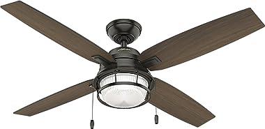 Hunter Fan 59214 Ventilador de Techo con Luz para Exterior Ocala, color Bronce