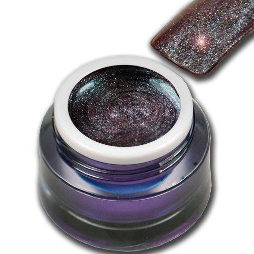 5ml Farbgel Flip-Flop Effekt Blau - Grau Glitter Alaska Premium Colorgel RM Beautynails