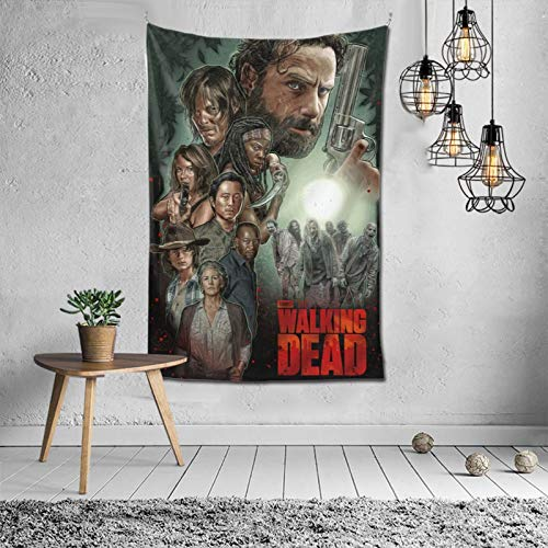 ZHKERYNA Hanging Modern Home The Walking Dead Tapestry Funny Wall-Mounted Tapestries for Bedroom, Living Room, Bar 60''×40''
