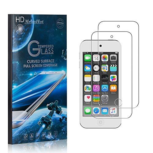 MelinHot Displayschutzfolie für iPod Touch 6th Generation, 99% Transparenz Schutzfilm aus Gehärtetem Glas, 9H Härte, Keine Luftblasen, 3D Touch, 2 Stück
