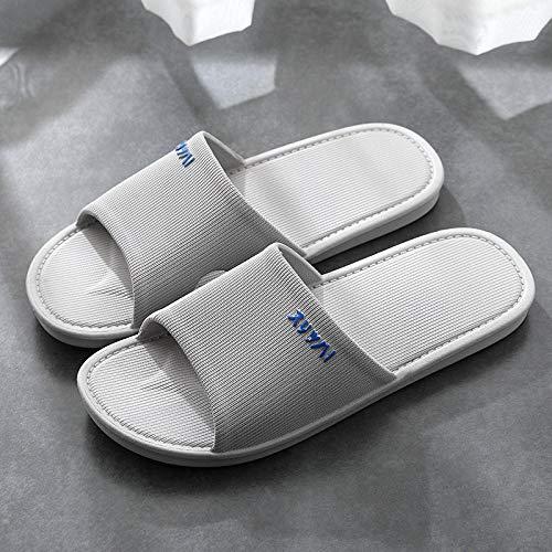 ENLAZY Zapatillas de baño Antideslizantes para Mujeres/Hombres,Sandalias de Ducha Transpirables,inodoros Zapatillas de casa de Punta Abierta Zapatillas de baño de Secado rápido,Gris,43/44