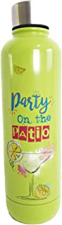 Mainstay Sports Water Bottle Double Wall Vacuum Insulated 17 fl-oz (Lime Party on The Patio)
