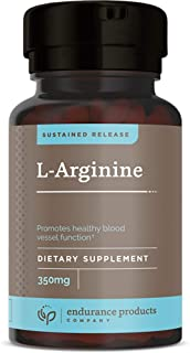 L-Arginine - 350mg Sustained Release for Optimal Absorption - Nitric Oxide Precursor*, 400 Tablets - Endurance Products Co...