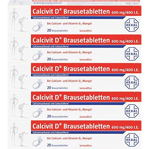 Calcivit D Brausetabletten 600 mg/400 I.E, 100 St. Tabletten