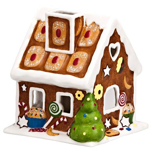 Hutschenreuther 02436-725564-27677 Candyland Porzellan-Lichterhaus Lebkuchen mit LED-Teelicht