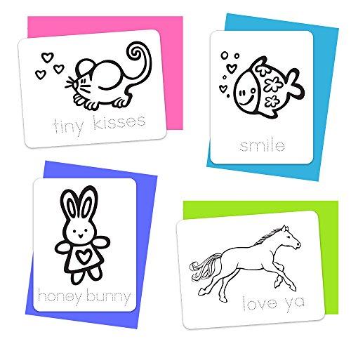 Color 'n Kids Valentine Love Notes – 12 Karten zum Ausmalen zum Valentinstag