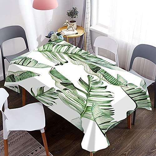 Mantel de café Impermeable con patrón de Hojas en 3D, Cubierta de Mesa Rectangular Lavable, Adecuada para Cocina, Manta de Picnic M-4 140x180cm