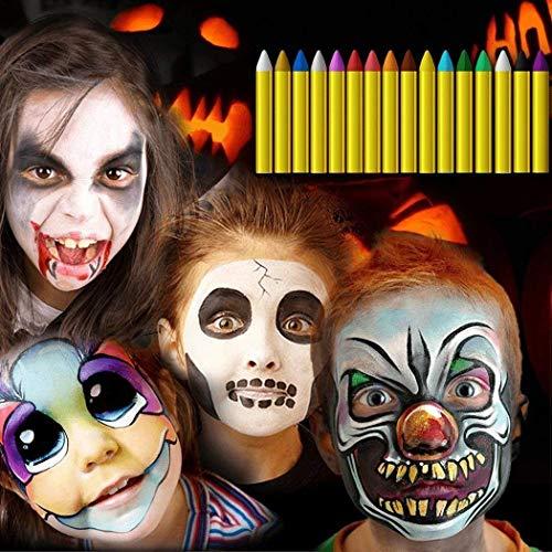Kisshes Niños Cara Color crayones Kit Aceite Pintura Corporal Payaso Fiesta