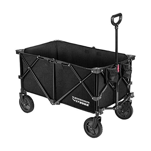VIVOSUN Heavy Duty Collapsible Folding Wagon Utility Outdoor Camping Garden Cart...