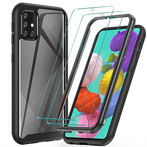ivencase Samsung Galaxy J7 2018 Case Silicone + Screen Protector HD,Samsung J7 2018 Flower Case J7 Aero,J7 Star,J7 Top Crystal Clear Shockproof Flexible TPU Cover Floral Case for Galaxy J7 2018