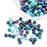Pandahall 400 Pcs Perlas de Cristal Nacarado, Cuentas de Pulsera Collar Pendientes, Tonos...