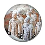China Magnet China Terracotta Warriors Xi'an 3D Fridge Magnet Crafts Souvenir Crystal Refrigerator Magnets Collection Travel Gift