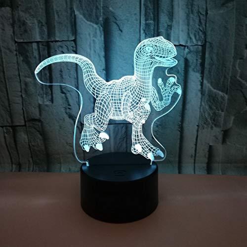 3D nachtlampje illusie optisch LED dinosaurus tafellamp LED 7 kleuren touch lamp huis slaapkamer kantoor decoratie voor kinderen verjaardag