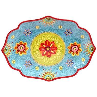 Certified International 22459 Tunisian Sunset Oval Platter, 16  x 12 , Multicolor