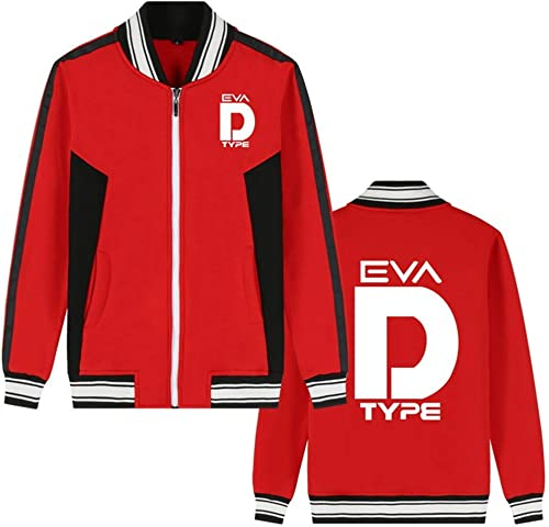 Costume Mobile Gundam Anime Bomber Veste Collège Baseball Vestes Cosplay Costume Zipper Sweat-Shirt Manteau voituredigan (Couleur   rouge 1, Taille   XXL)