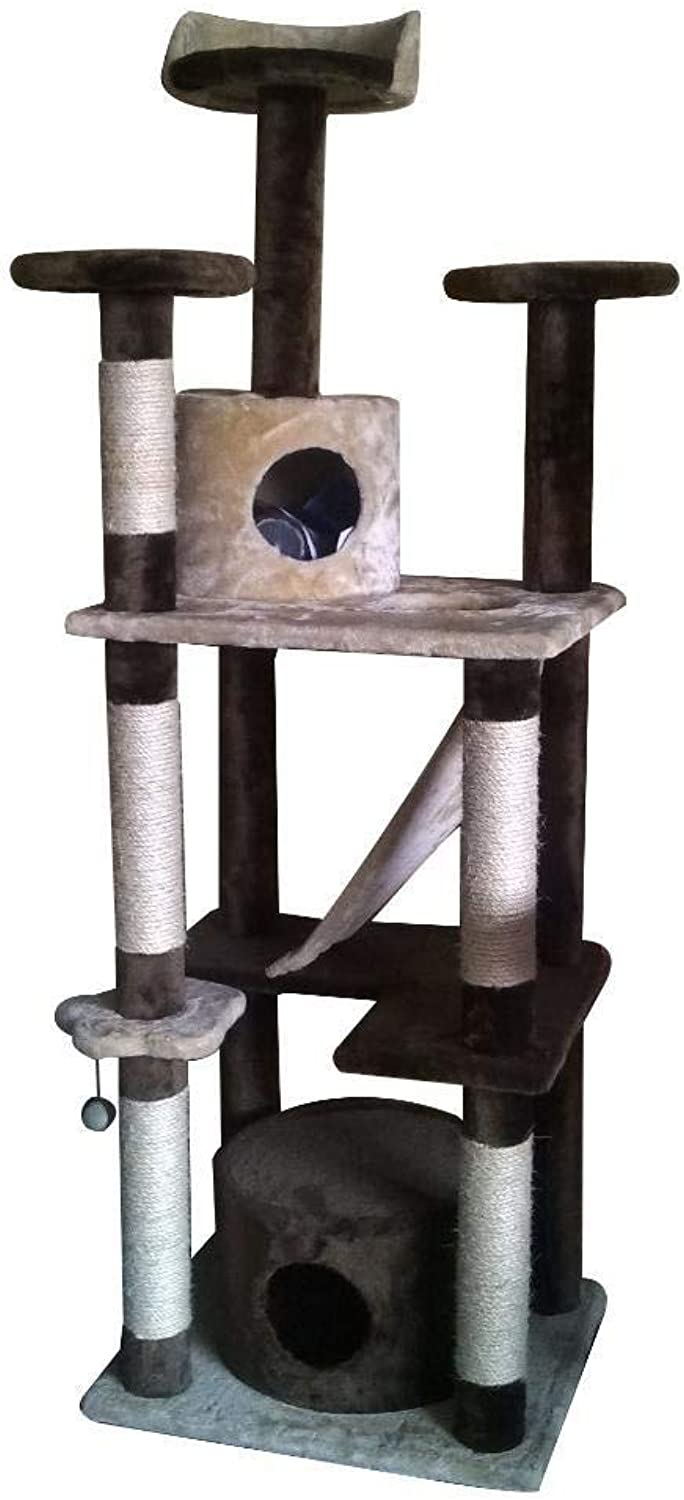 Dixinla Cat climbing frame Pet Products Large Super large cat stand cat tree 50  50  183cm