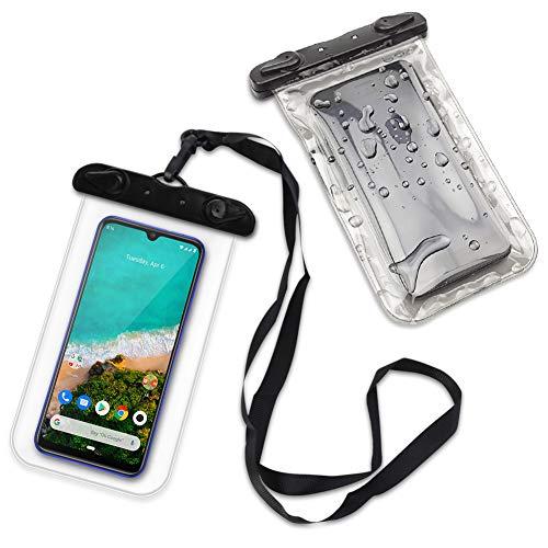 Handy Hülle Wasserdicht kompatibel mit Xiaomi Mi A3 Schutzhülle Wasser Tasche Schutz Hülle Wassertasche Strand Cover, Farbe:Ultra Clear
