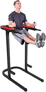 Nexttechnology Power Tower with Dip Station Vertical Knee Raise Pull Up Machine Fitness Equipment Workout Station Strength Training Dip Stand for Home and Gym