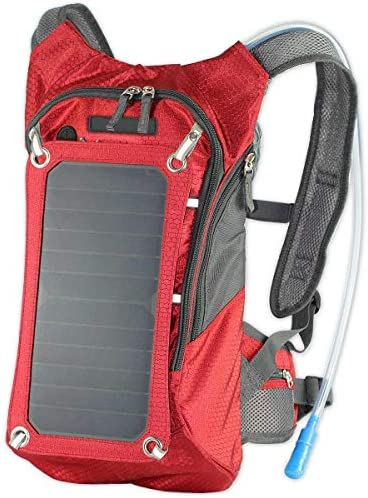 XTPower Xplorer Hiker 8 Red Solar Backpack with 7 Watt Removable Solar Panel and 5V USB Output product image