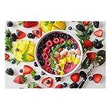 Fruta Comida Postre Cocina Arte de la pared Lienzos Estampados y decoración Pósters Imagen Restaurante Decoración del hogar 19.6'x 27.5' (50x70cm) Con marco