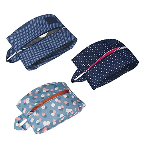 FOU Schuhtasche 3er Set Wasserundurchlässig Trennen Sie schmutzige Schuhe und saubere Kleidung in Ihrer Reisetasche, Koffer oder Handgepäck
