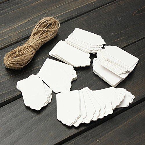 Bazaar 100pcs pétoncles kraft étiquette en papier partie nom de cadeau de mariage Balises nom de tirage de la main la carte