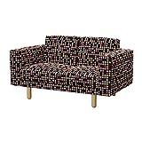 Soferia - IKEA NORSBORG Funda para sofá de 2 plazas, City Black