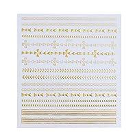 SUKTI&XIAO ネイルステッカー 完全な美1シートゴールドネイルアート3Dステッカーキラキラ装飾ハートクロスダイヤモンドデカールネイルパーソナライズ、Dp340