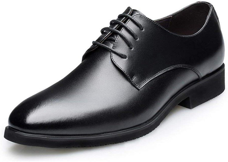 HhGold Formale Geschfts-Schuhe der Mnner, Intelligente Zufllige Formale Geschnürte Spitzes Lederschuhe, Hochzeits-Abschlussball-Büro-Klassiker,schwarz,38 (Farbe   Wie Gezeigt, Gre   Einheitsgre)
