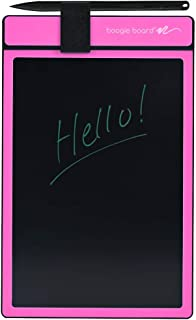 Boogie Board Basics Reusable Writing Pad-Includes 8.5 in LCD Writing Tablet, Instant Erase, Stylus Pen, Pink