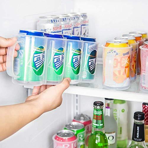 Xiaxiazhuang Drank Opbergdoos voor Draagbare Koelkast Kabinet, Soda Can Organizer, Bier Kan Rack, Koelkast Opslag Slide Rack, Transparante Plastic Kan Houd 4 blikjes