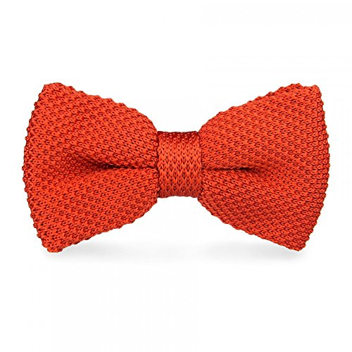 CravateSlim Noeud Papillon Tricot Homme (Orange brique)