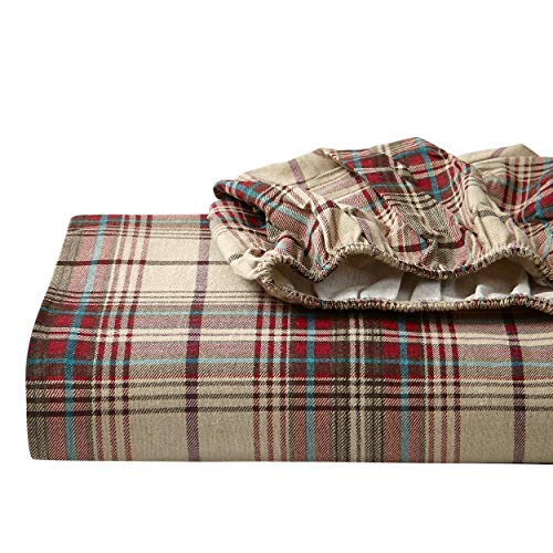 Eddie Bauer - Flannel Collection - 100% Premium Cotton Bedding Sheet Set, Pre-Shrunk & Brushed For Extra Softness, Comfort, and Cozy Feel, King, Montlake Plaid