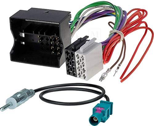 Sound Way Cavo Adattatore Connettore ISO Autoradio, Adattatore Antenna, Compatibile con Mercedes