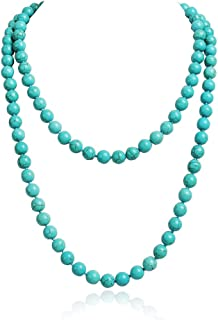 Best Fashion Costume Jewelry Long Red Bead Necklace for Women Girls Review