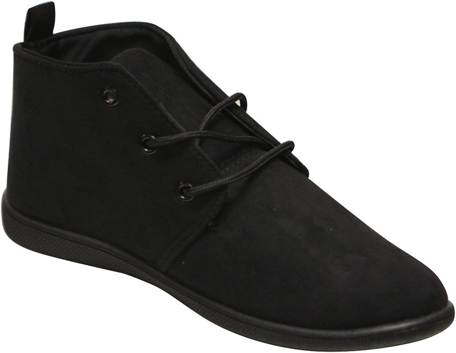 Refresh Scala-02 Women's Round Toe Lace up Classic Suede Oxford Flats