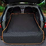iBuddy Cargo Liner for Dogs Waterproof Pet Cargo Covers for SUV with Bumper Flap Protection Heavy Duty Nonslip Dog Trunk Cargo Protector Washable Dog Seat Cover for Universal and Large Size SUVs