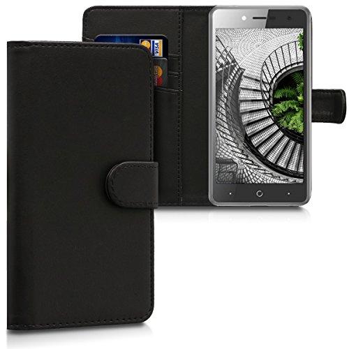 kwmobile ZTE Blade L7 Hülle - Kunstleder Wallet Case für ZTE Blade L7 mit Kartenfächern & Stand - Schwarz